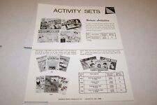 Vintage WARREN PAPER PRODUCTS - ACTIVITY SETS- ad sheet #0219