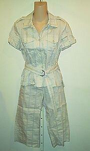 Theory NWT $465 Calista  Shirt & Capri  Pants Outfit  8/10   Free Shipping!
