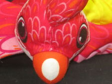 TEXACO 2000 OLYMPIC ANIBALL PARROT BIRD RED PLUSH BALL STUFFED INSIDE OUT TOY
