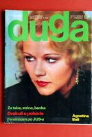 AGOSTINA BELLI ON COVER 76' VERY RARE EXYU MAGAZINE