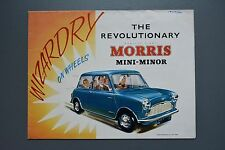 Vintage Brochure: Morris Mini Minor Mk1 H&E 5950, 850cc BMC Poster Type
