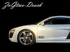 Audi Ringe Aufkleber Sticker Folie Schriftzug Logo Emblem Symbol, Schwarz 2 Stk.