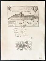 1926 - Litografia citazione Conte Ypres - Padiglione d'Ypres. WW1