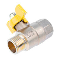 "1/2"" Female Male Thread Brass Ball Valve Pipe Hose Connector for Gas Water"