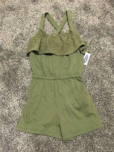 Old Navy Girl's Knit Romper 5 6-7 8 10-12 14 Green NEW