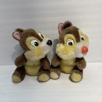 "Vintage Disneyland Walt Disney World Chip and Dale 8"" Plush Chipmunk Stuffed"