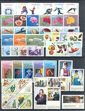 ALBANIA 84 STAMPS + 1 BLOCK --MOST ** MNH VF