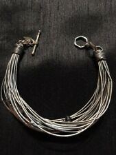 Silpada sterling silver, hematite, glass and leather bracelet B2143