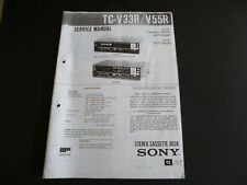Service MANUAL SONY STEREO CASSETTE DECK tc-v33r v55r