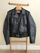 RARE Schott Perfecto 613 One Star Double Rider Leather Motorcycle Jacket 40 M