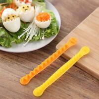 2 Stück gekochte Eier Blumenform Cutter Slicer für Bento Box Küchengeräte