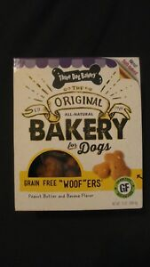 Three Dog Bakery For Dogs Grain Free Woofers Peanut Butter & Banana 13 Oz Box #7