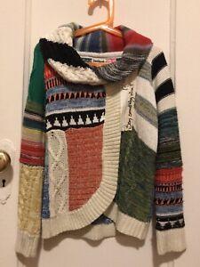 Desigual Knitted Jacket/Cardigan Girls Size 7/8