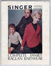 SINGER Vintage Crocheting & Knitting Patterns