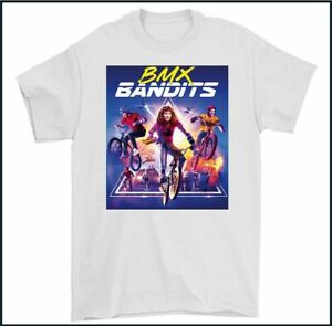 BMX BANDITS T-SHIRT, 80's Movie Film Skyway Tuff Wheels Mens Tee Top