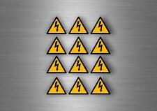 12x sticker adesivi adesivo pericolo elettrico segnale targhette adesive