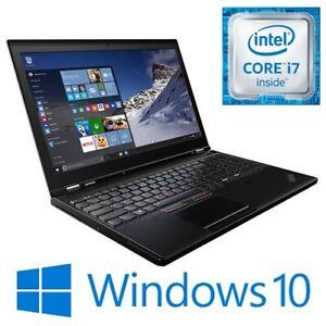 """Lenovo ThinkPad P50 i7 6820HQ 16G 256G SSD Quadro M2000M 15.6"""" FHD Win 10 Pro"""