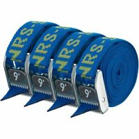 """NRS 1"""" HD Tie-Down Straps - Iconic Blue - 9' 4-pack"""