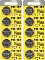 10 x New Original Toshiba CR2032 CR 2032 3V LITHIUM BATTERY BR2032 DL2032 Remote