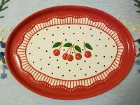 Mary Engelbreit Platter Cherry Large Cherryware Serving Tray