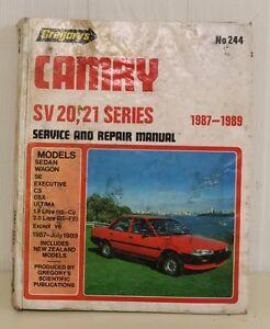 CAMRY SV 20 21 SERIES REPAIR MANUAL 1.8 2.0 4CYL 1987 - JULY 1989 SEDAN WAGON