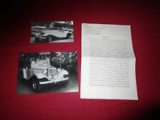 N°9492 / 2  photos et texte  automobile LAFER Neo retro coupé LL style MG