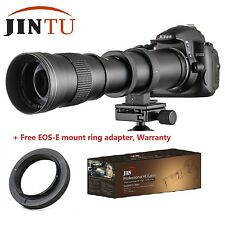 420-800mm F/8.3-16 Telephoto Manual Zoom Lens +T2 Adapter for Canon EOS Camera