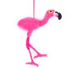 Rosa Flamingo Ave Decoración de árbol de Navidad Ornamento Colgante de comercio justo