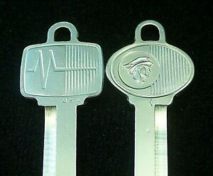 "MERCURY ""Messenger"" OEM KEY BLANK SET 1965-1983 Maurader Cougar Caliente Cyclone"