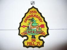 OA Tom Kita Chara 96,35th Ann Lodge,1936,1971 Fall,pp,Samoset Council,Tesomas,WI
