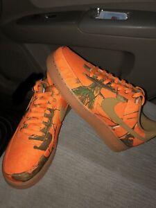 Nike Air Force 1 Low x Realtree Orange Camo Size 10