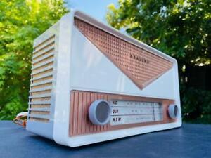 **FUNKY** retro 1950's HEALING valve DECO radio