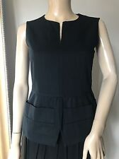 Marni Black Cotton Peplum Top Blouse IT36 XS