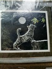 bucilla Max's moon counted cross stitch kit