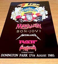 More details for zz top-1985- monsters of rock castle donington-metallica -bon jovi- metal sign