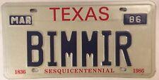 Vanity BMW BIMMER license plate German Auto Bayerische Motoren Werke car Beamer