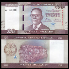 Liberia 20 Dollars, 2016(2017), P-NEW, AA Prefix, New design, UNC