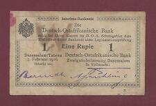 GERMAN EAST AFRICA 1 RUPIEN 1916 VF RARE  WEST GERMANY