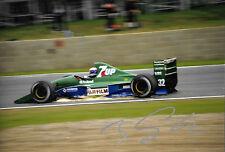 Bertrand Gachot SIGNED 12x8  F1 Jordan-Ford HB 191 ,British GP Silverstone 1991