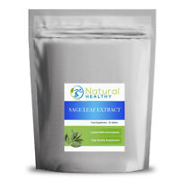 30 Sage Leaf Extract 500mg Tablets - UK Made - High Quality Supplement