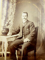 1880s Victorian Cabinet Card Photograph by Heawood Leicester