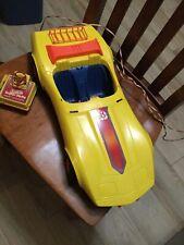 Vintage Barbie Super-Vette Yellow Corvette Remote Control Car 1979 Mattel Works!