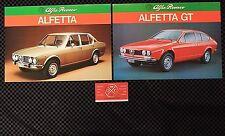 (2) Alfa Romeo Alfetta Sedan/Alfetta GT Poster Brochures 72 73 74 75 76 JDM Rare