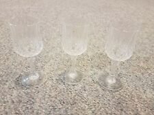 Set of 3 Cristal D'Arques Durand 4 5/8 inch Cordial Glasses 24% lead crystal