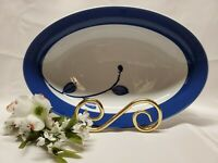 "Mikasa True Blue Oval Fine China Vegetable Serving Bowl 10"" Long"