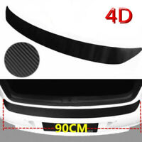 1Pcs 4D Carbon Fiber Car Rear Guard Bumper Sticker Panel Protector Accessories