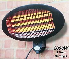 2000W Wall Mount Outdoor Patio Heater with 3 Heat Settings & Pull Cord.