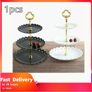 Holiday Party Three-layer Fruit Plate Dessert Candy Dish Cake Stand Decoration