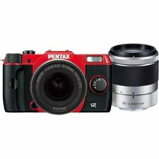 Near Mint! Pentax Q10 with 5-15mm and 15-45mm f2.8 Red - 1 year warranty