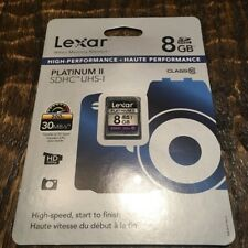 10 Pack 8GB SD SDHC Lexar Class 10 Memory Cards